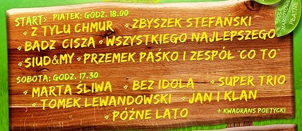 IX WĘDROWNY PRZEGLĄD PIOSENKI POLANA 26 - 27 LIPCA ZAPRASZAMY